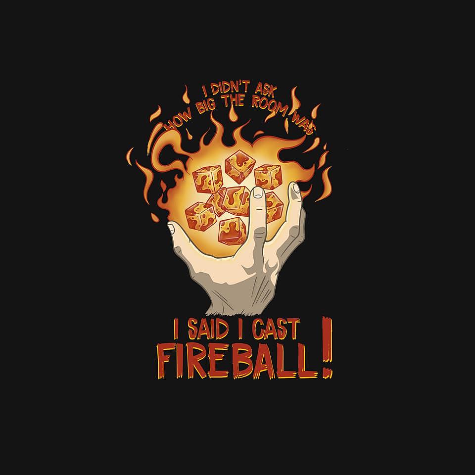 TeeFury: Cast Fireball