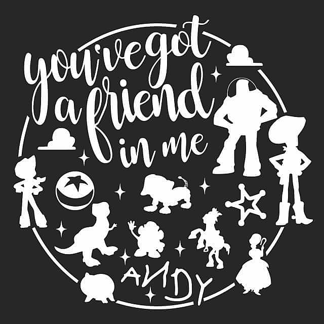 Textual Tees: You've Got A Friend In Me