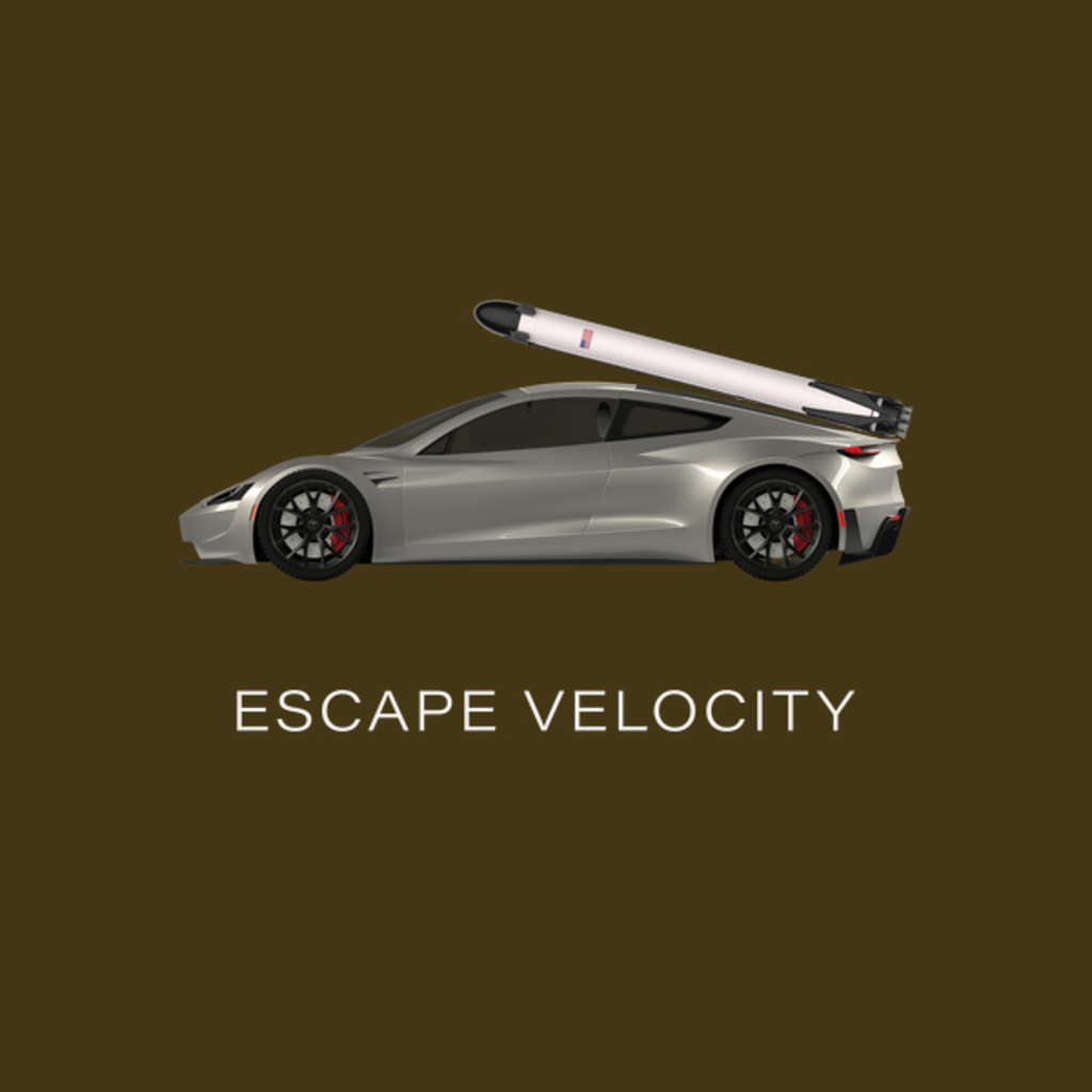 "NeatoShop: Title Space Roadster ""Escape Velocity"" (Silver w/ light text)"