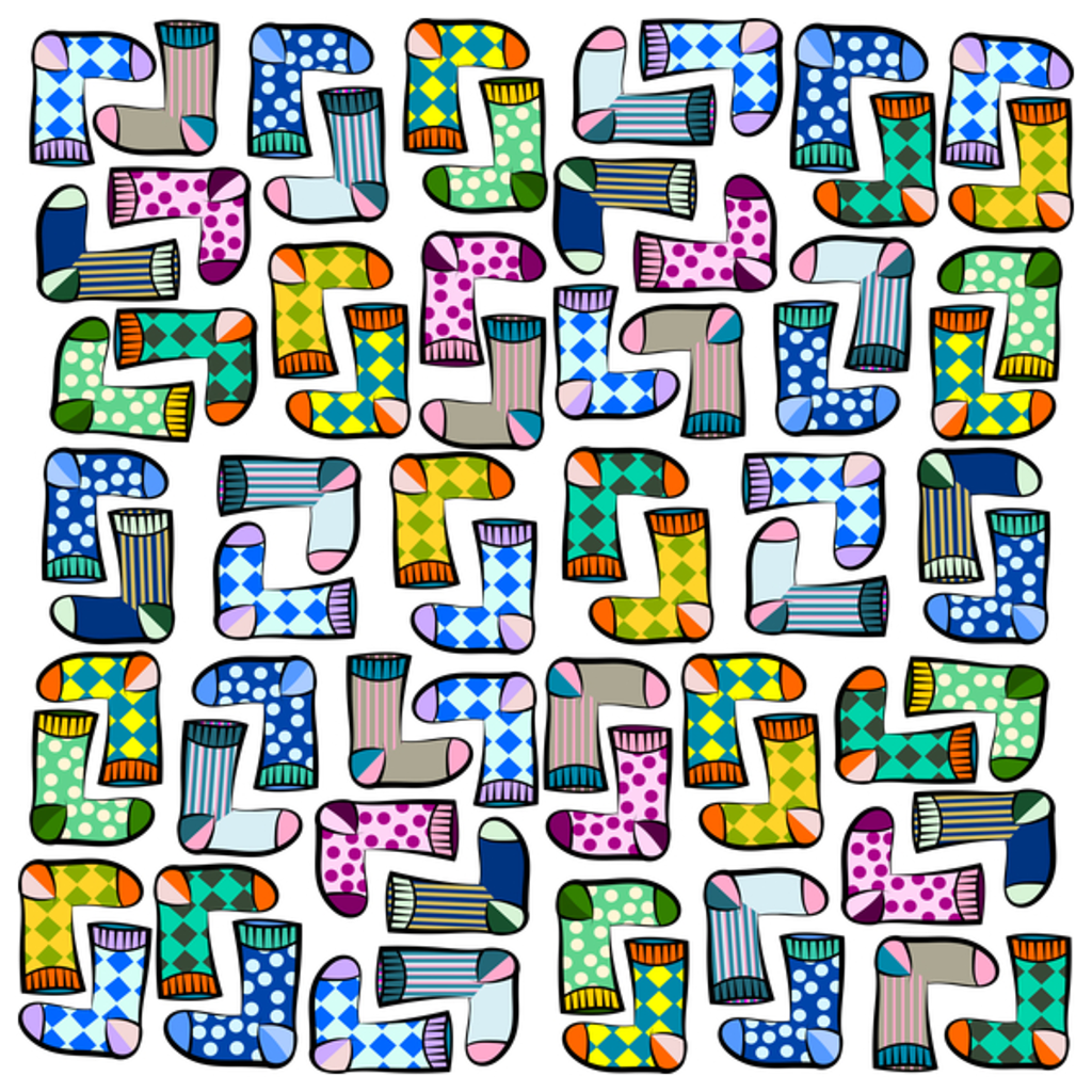 NeatoShop: Funny sock pattern t-shirt