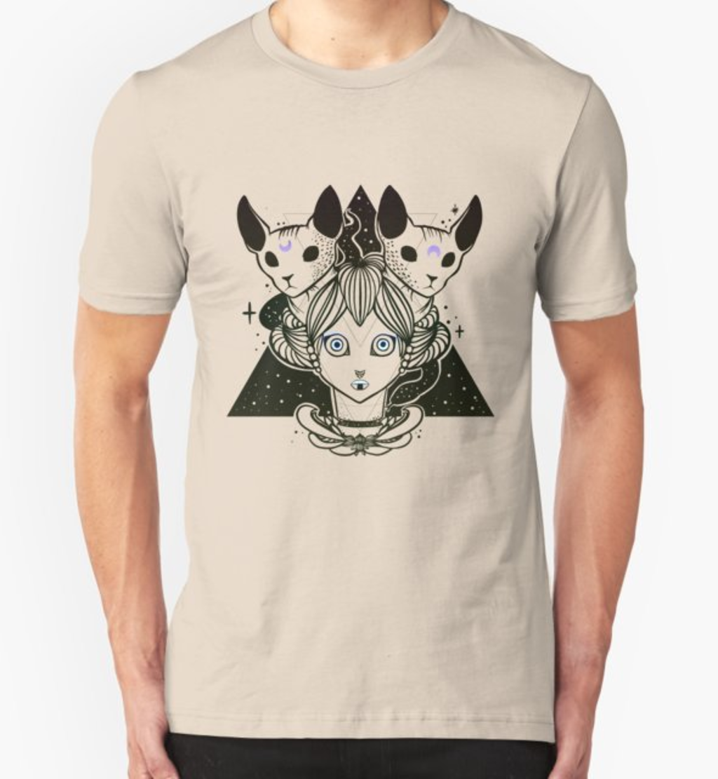 RedBubble: Weird Girl With Sphynx Cats And Snakes