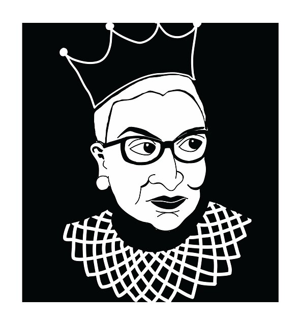 RedBubble: RBG: May her memory be a revolution (White on black)
