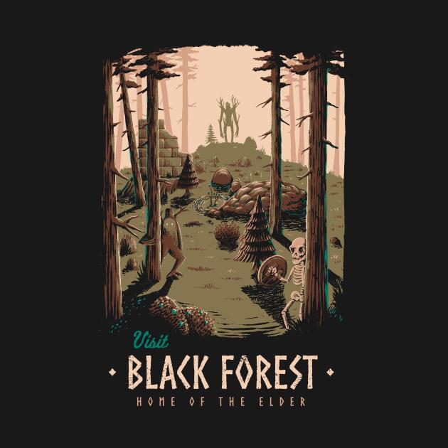 TeePublic: Black forest