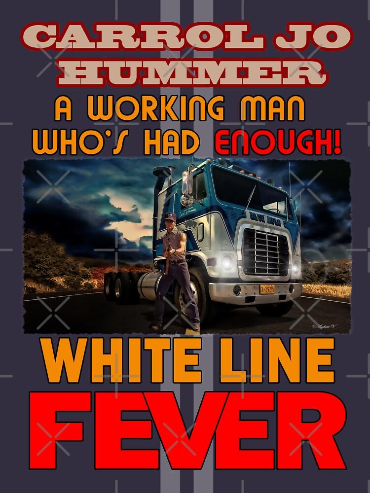 RedBubble: White Line Fever