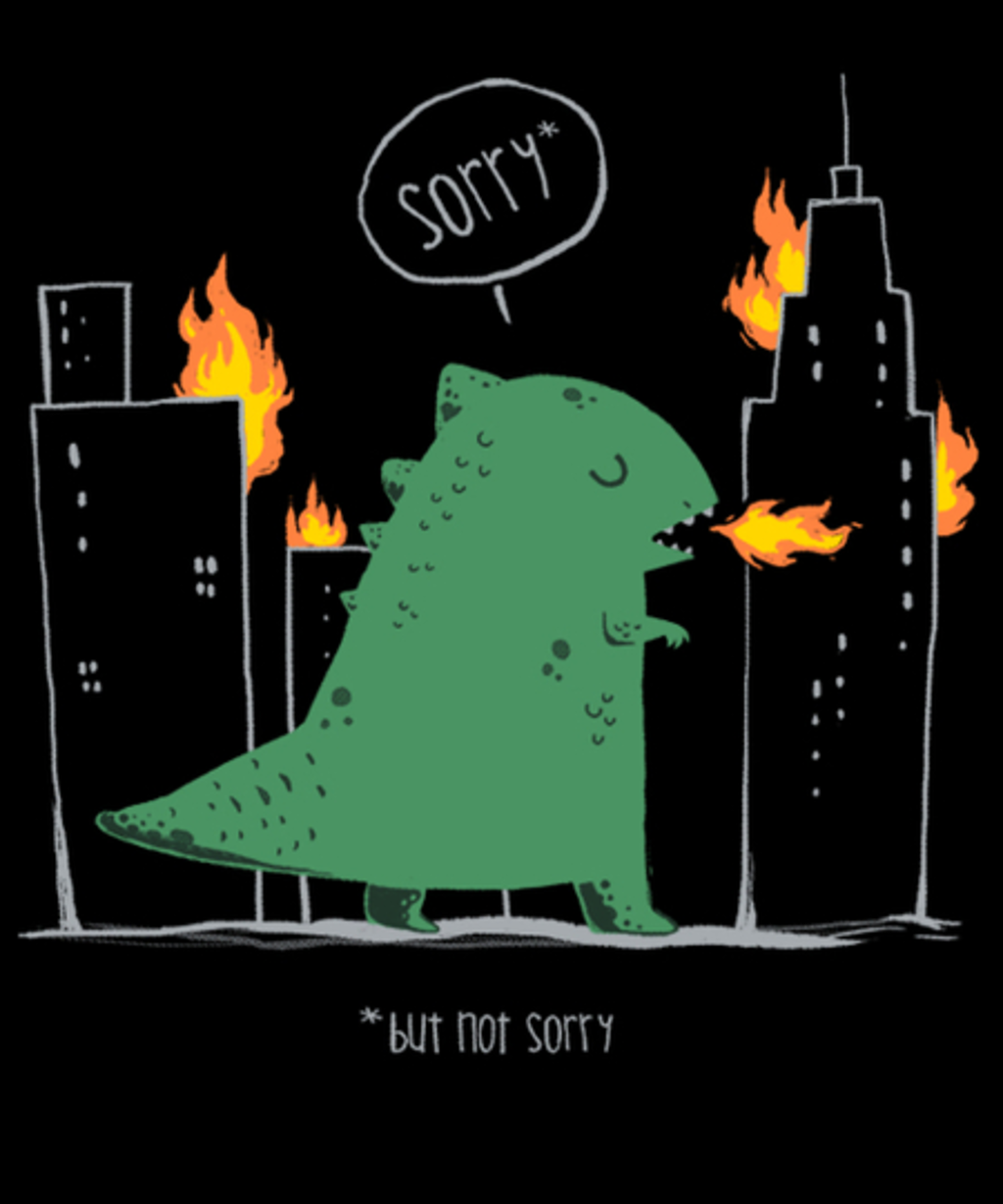 Qwertee: Sorry, but not sorry.