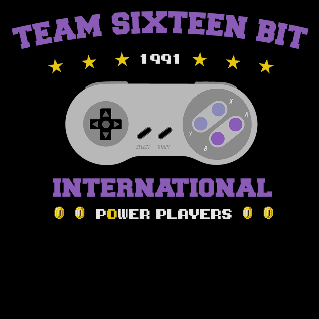 Pop-Up Tee: Team 16 Bit International Power Players