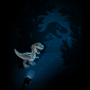 Qwertee: Tiny Blue Raptor