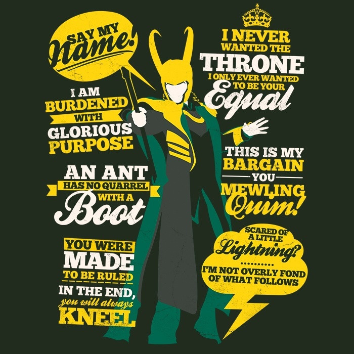 We Heart Geeks: Mischievous Quotes - Men's T-Shirt