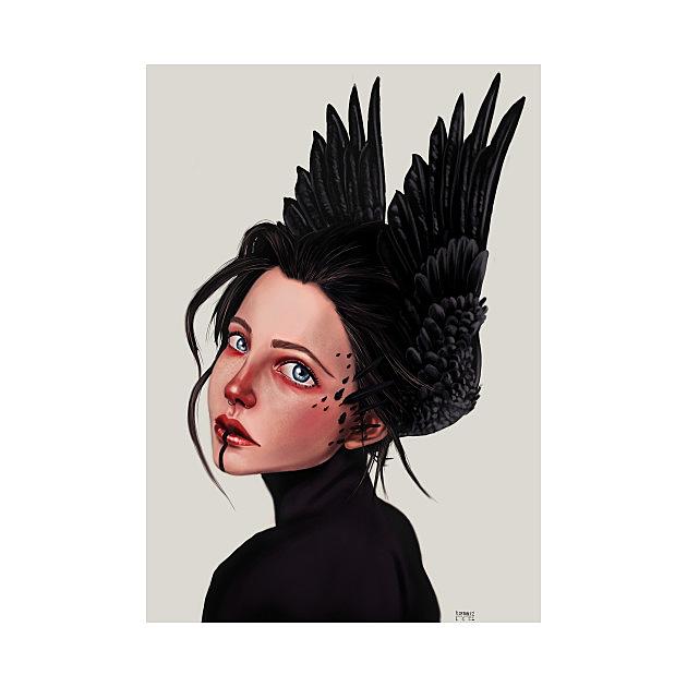 TeePublic: Raven girl