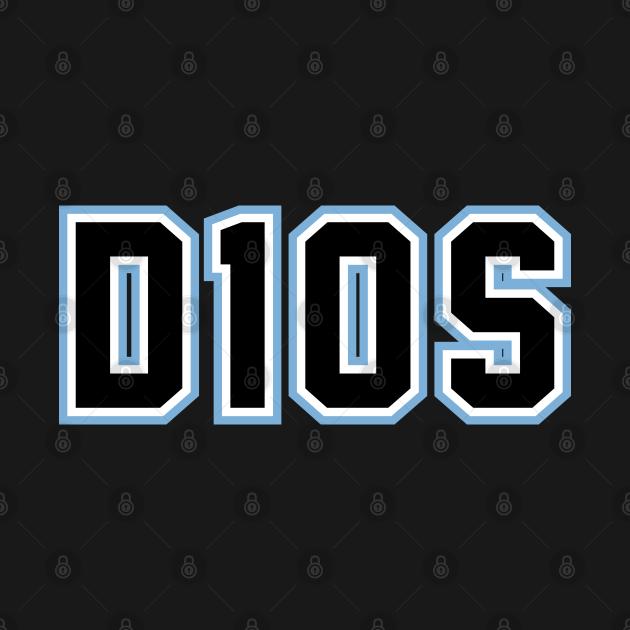 TeePublic: Maradona D10S Jersey Tribute