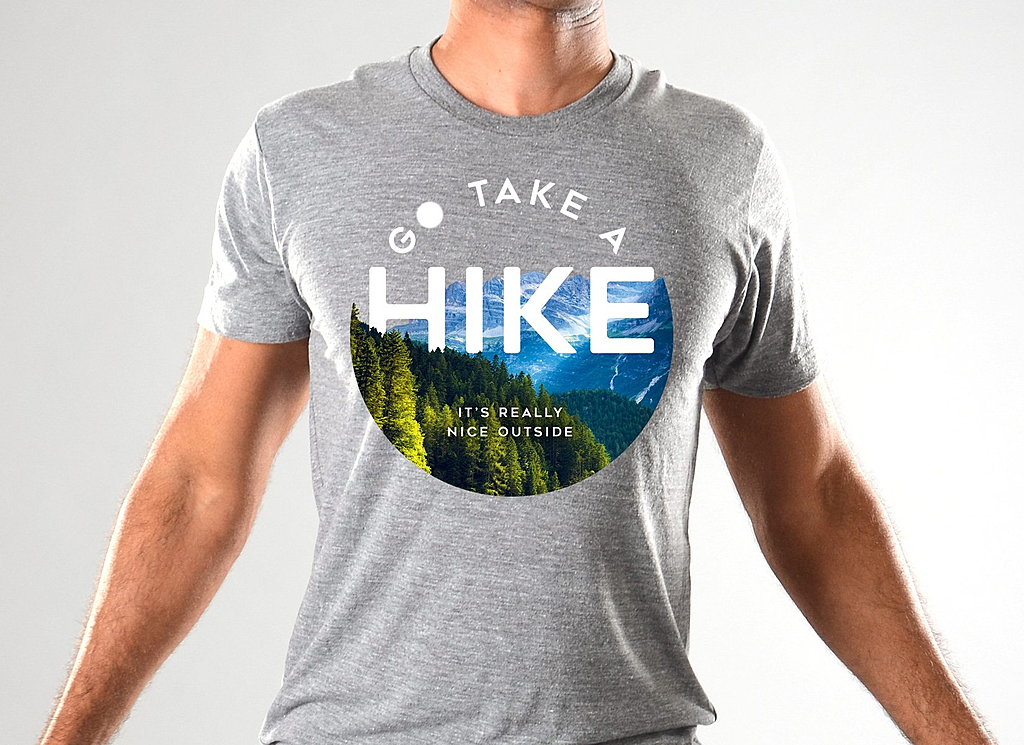 SnorgTees: Go Take A Hike Limited Edition Tri-Blend