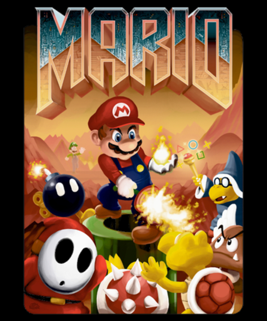 Qwertee: Mario's Doom
