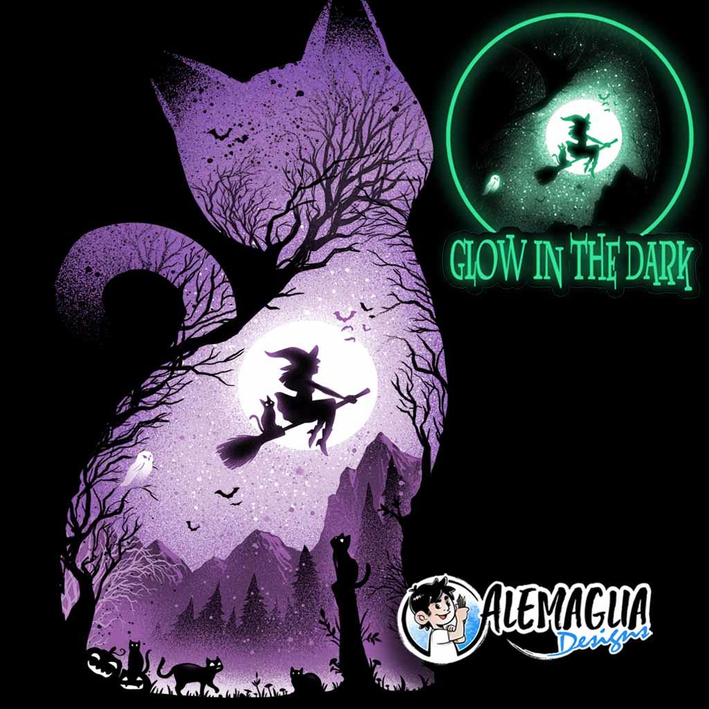 TeeTee: Witch's cat – glow in the dark