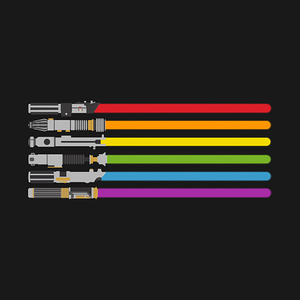 TeePublic: lightsaber rainbow