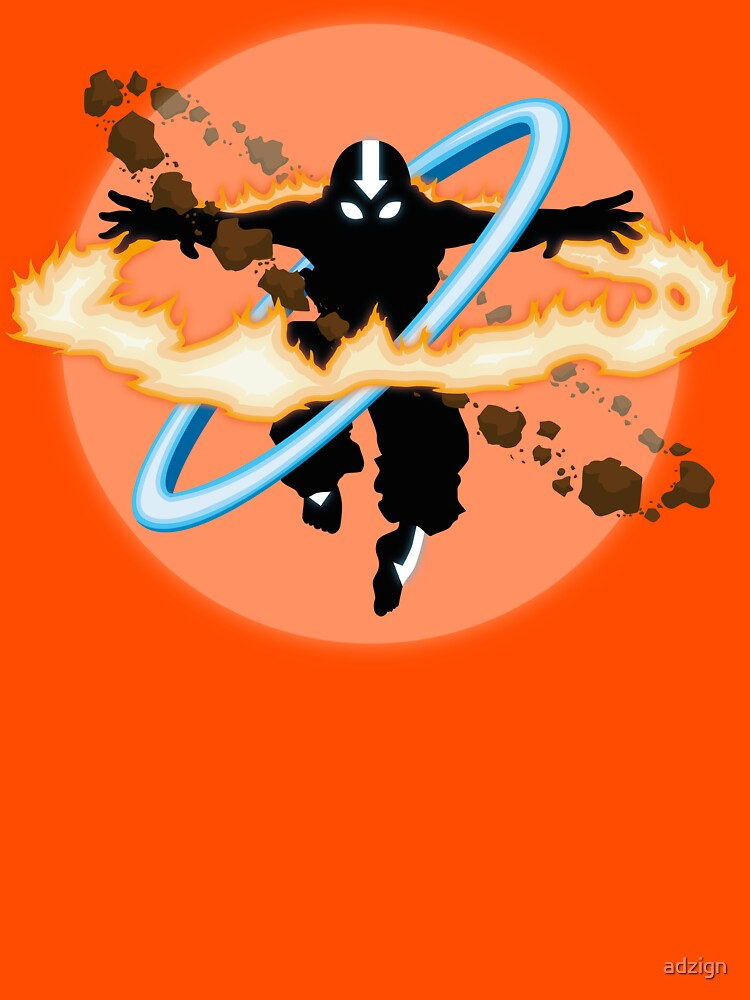 RedBubble: Aang going into uber Avatar state