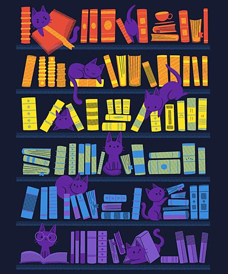 Qwertee: Library Kittens