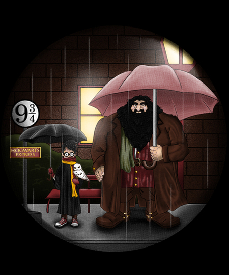 Qwertee: My neighbor Hagrid