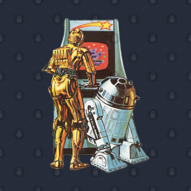 TeePublic: Droids at the Arcade