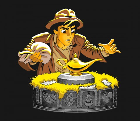 TeeFury: Raiders of the Lost Lamp - Top Design