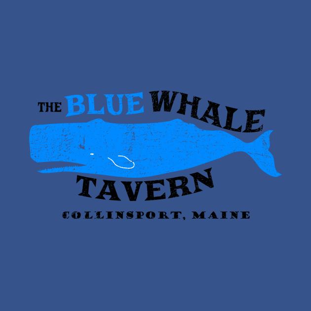 TeePublic: Blue Whale Tavern distressed