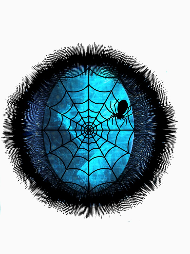 RedBubble: 藍色蜘蛛網..Blue spider web...
