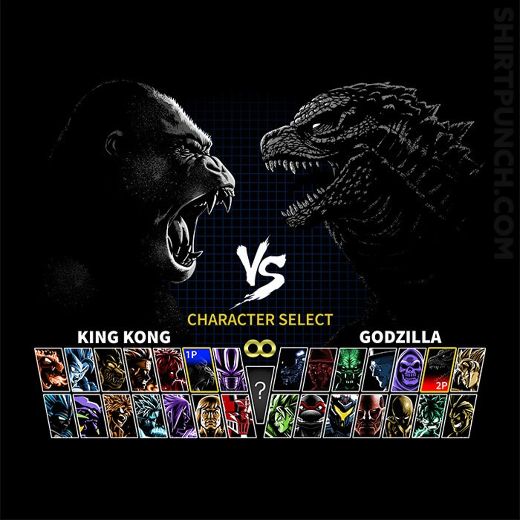 ShirtPunch: Select King VS King Of Monsters