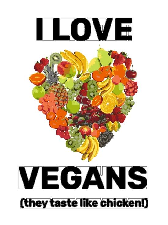 BustedTees: I Love Vegans