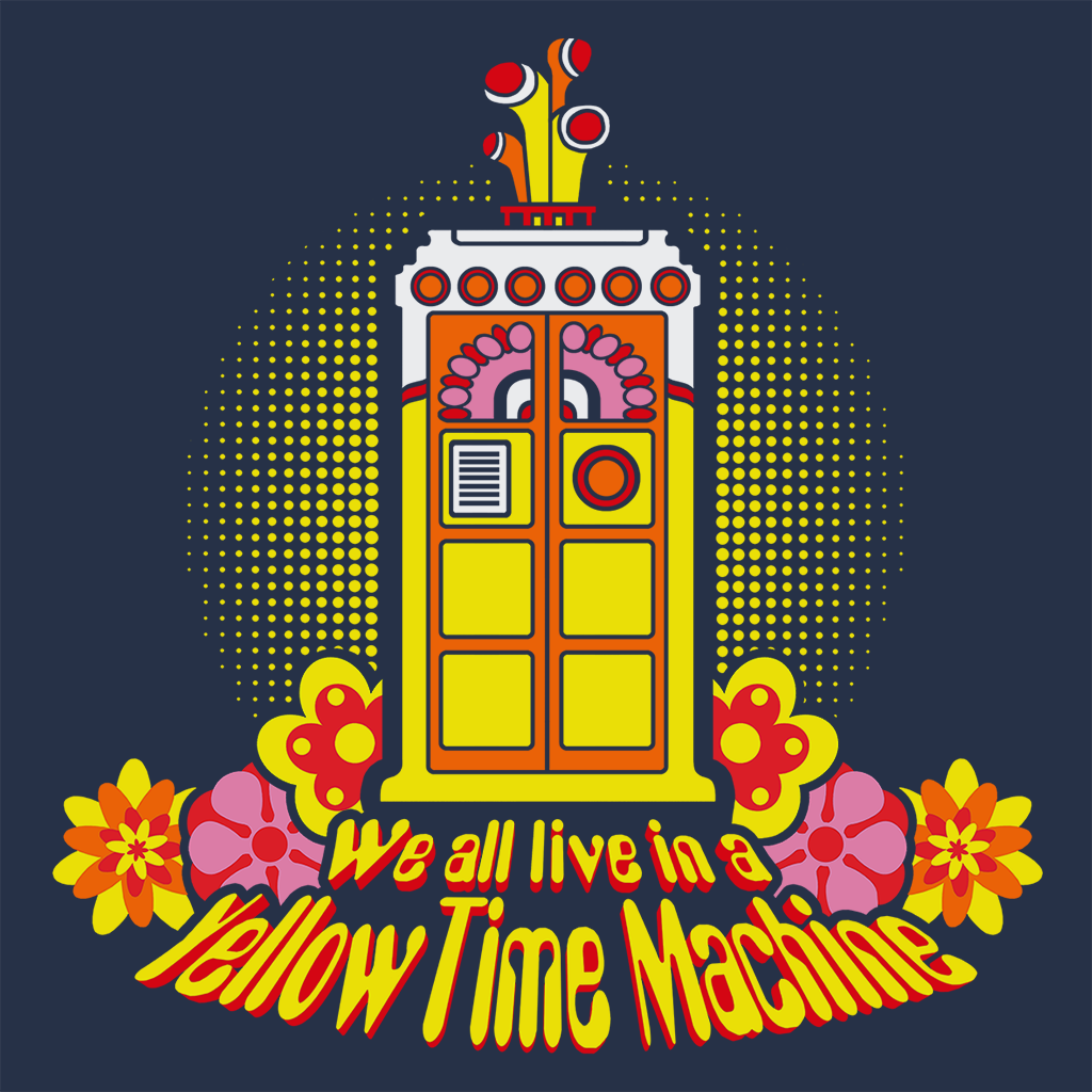 Pop-Up Tee: Yellow Time Machine