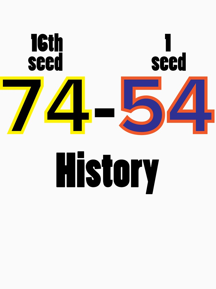 RedBubble: Historical UMBC vs UVA win 1st round March Madness Win History Has been Made Tee Shirt 74-24 College Basketball