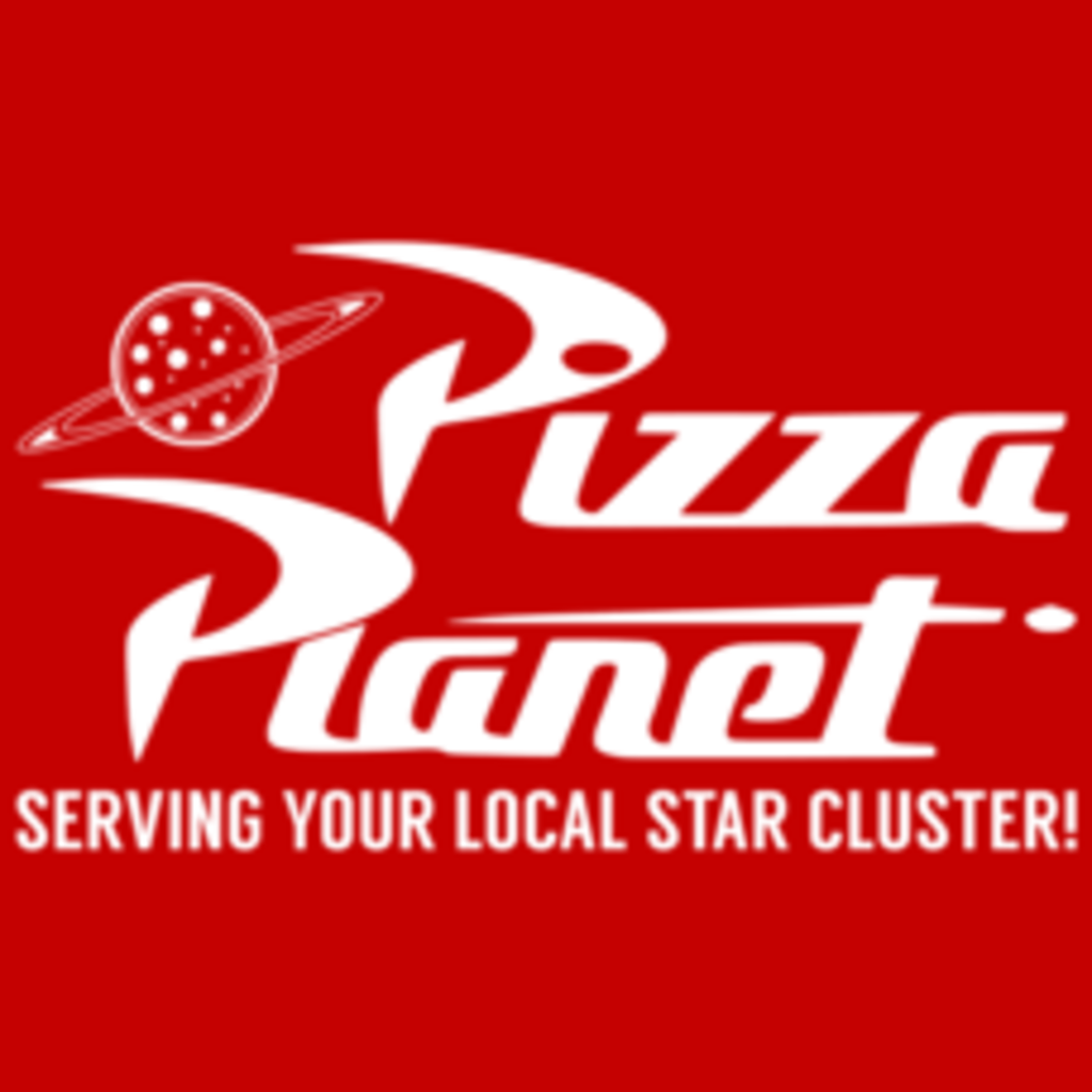 Textual Tees: Pizza Planet