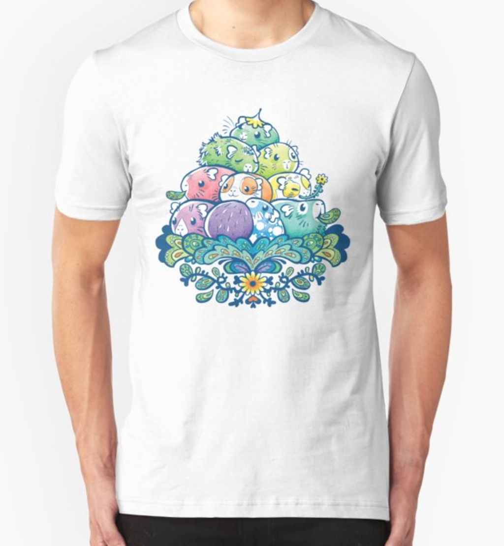 RedBubble: Blooming Piggy Pile