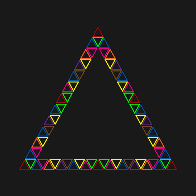 TeePublic: Colorful triangles