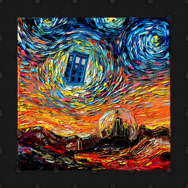 TeePublic: van Gogh Never Saw Gallifrey