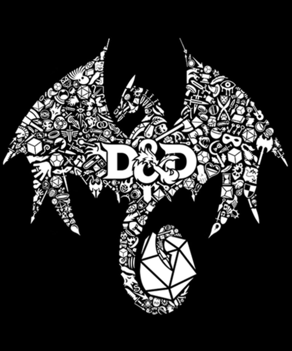 Qwertee: Mosaic Dragon
