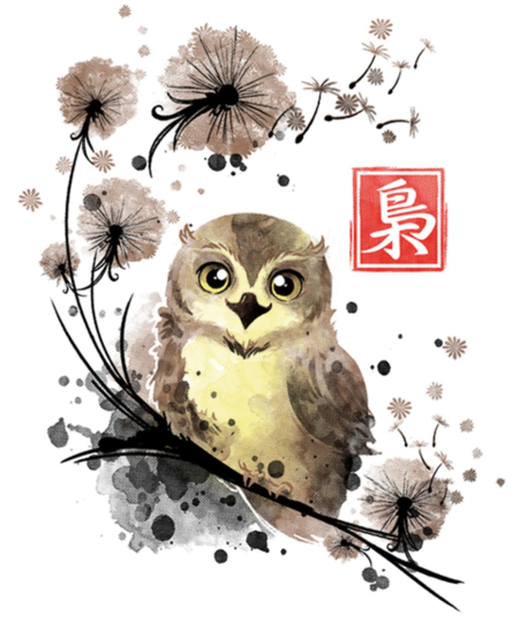 Qwertee: Dandelion owl
