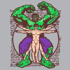 Textual Tees: Vitruvian Hulk T-Shirt