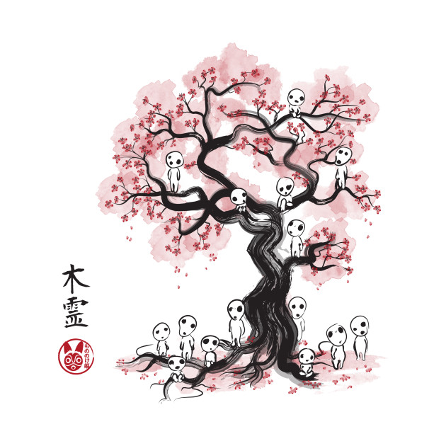 TeePublic: Forest Spirits Sumi-e T-Shirt