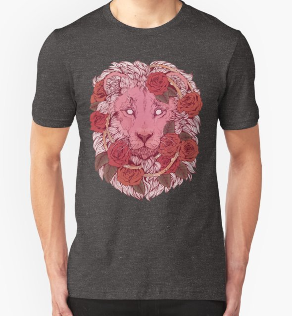 RedBubble: Lion of Roses