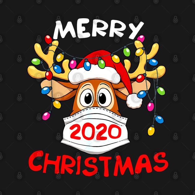 TeePublic: Reindeer In Mask Funny Merry Christmas 2020