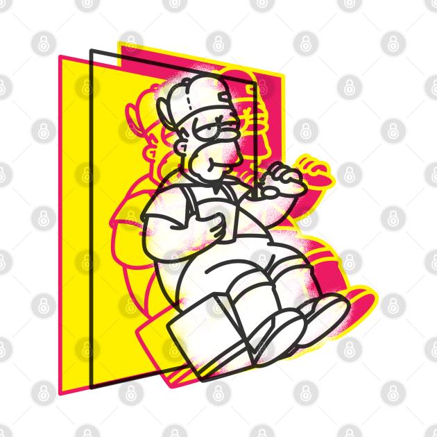 TeePublic: Dancin Homer Homero Simpson