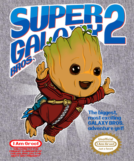 Qwertee: Super Galaxy Bros.