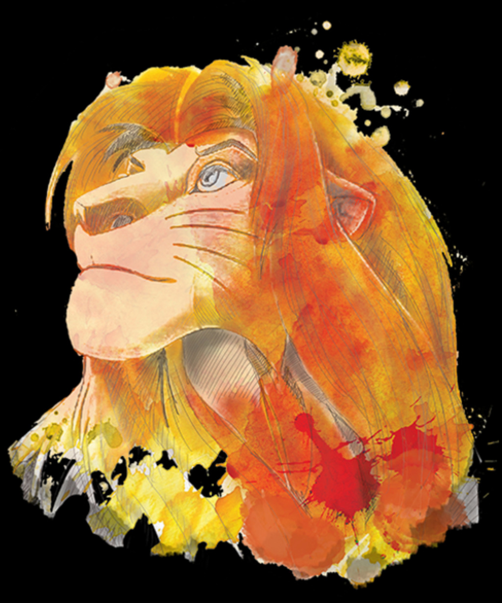 Qwertee: the king watercolor