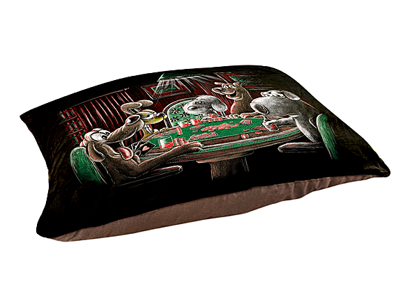 Woot!: Dogs Playing Poker Pet Bed