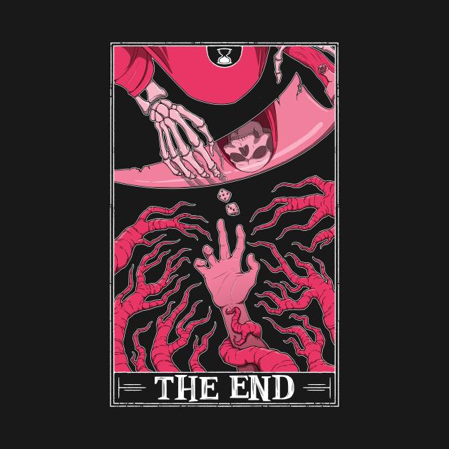 TeePublic: The End Tarot (dark shirt)