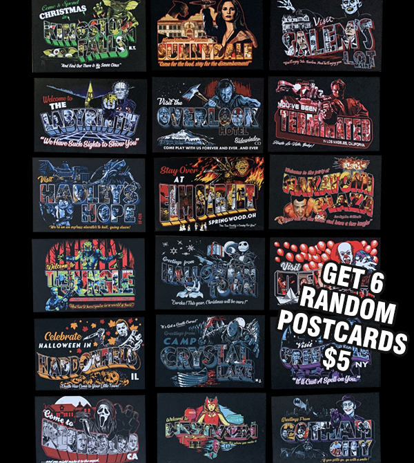 teeVillain: 5 Mystery Postcards