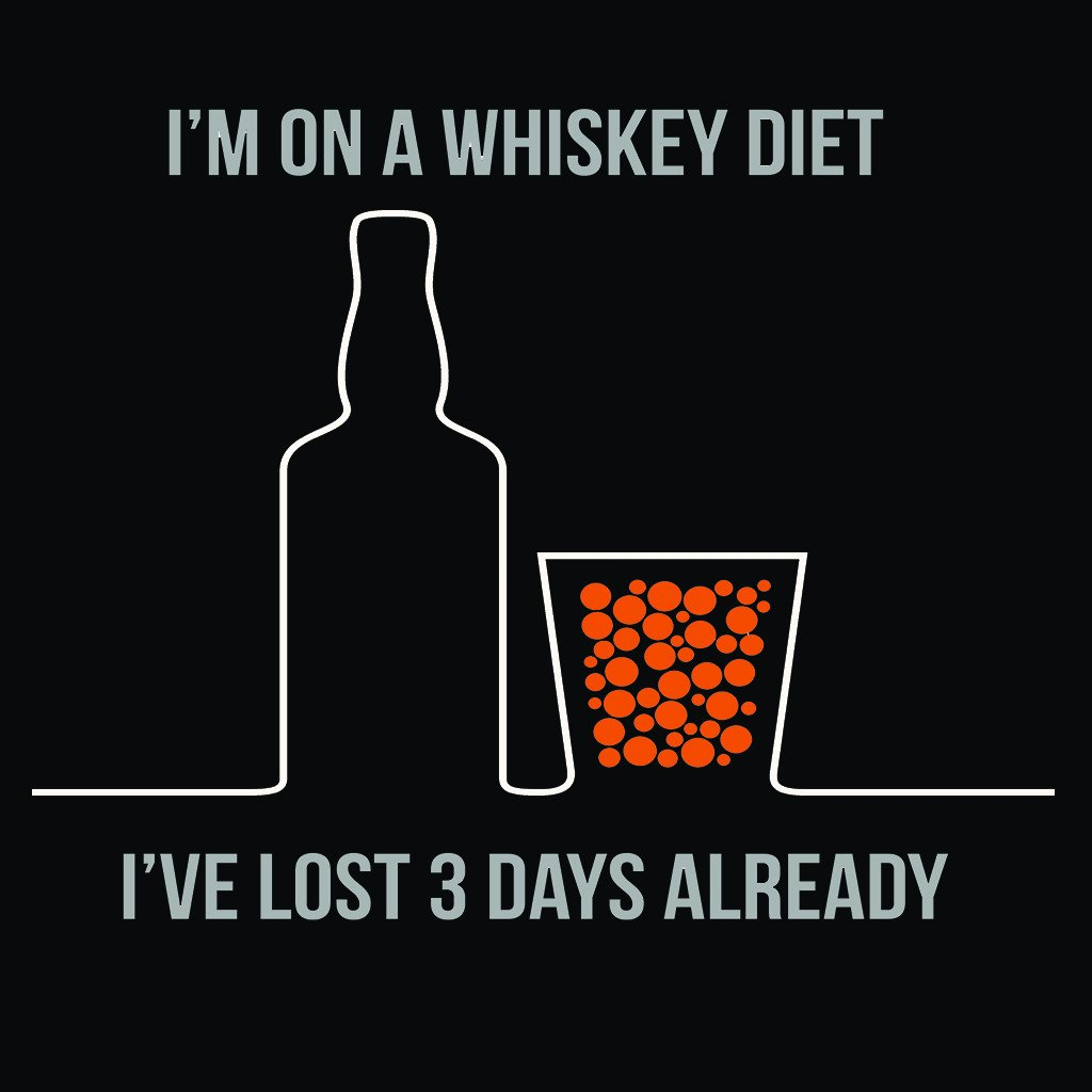 LivingTees: I'm On A Whiskey Diet Tee