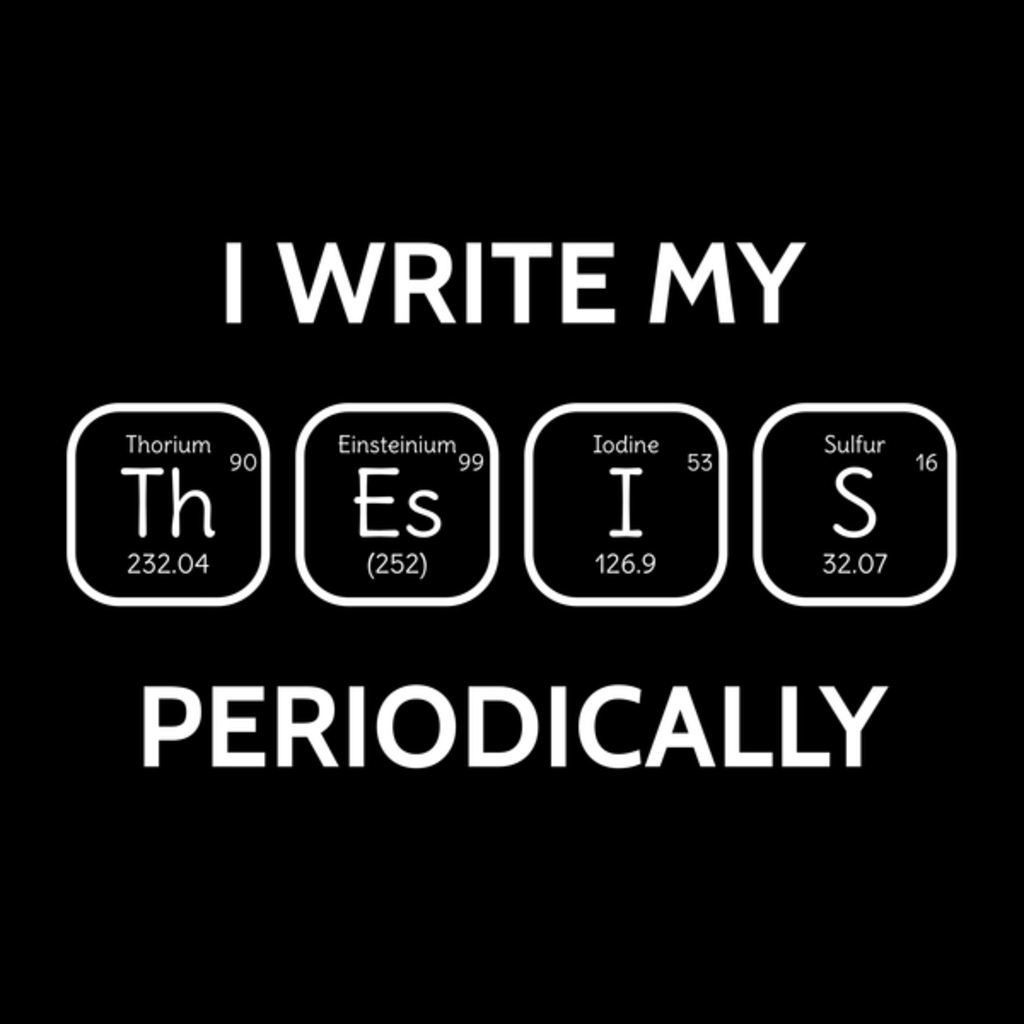 NeatoShop: I write my thesis periodically science