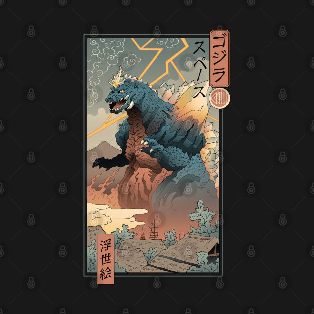 TeePublic: Space Kaiju Ukiyo-e