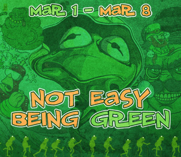 TeeFury: Not Easy Being Green Collection