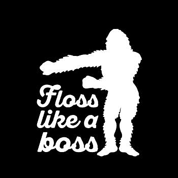 BustedTees: Floss Like A Boss - Bigfoot Funny Dance Moves - Hoodie